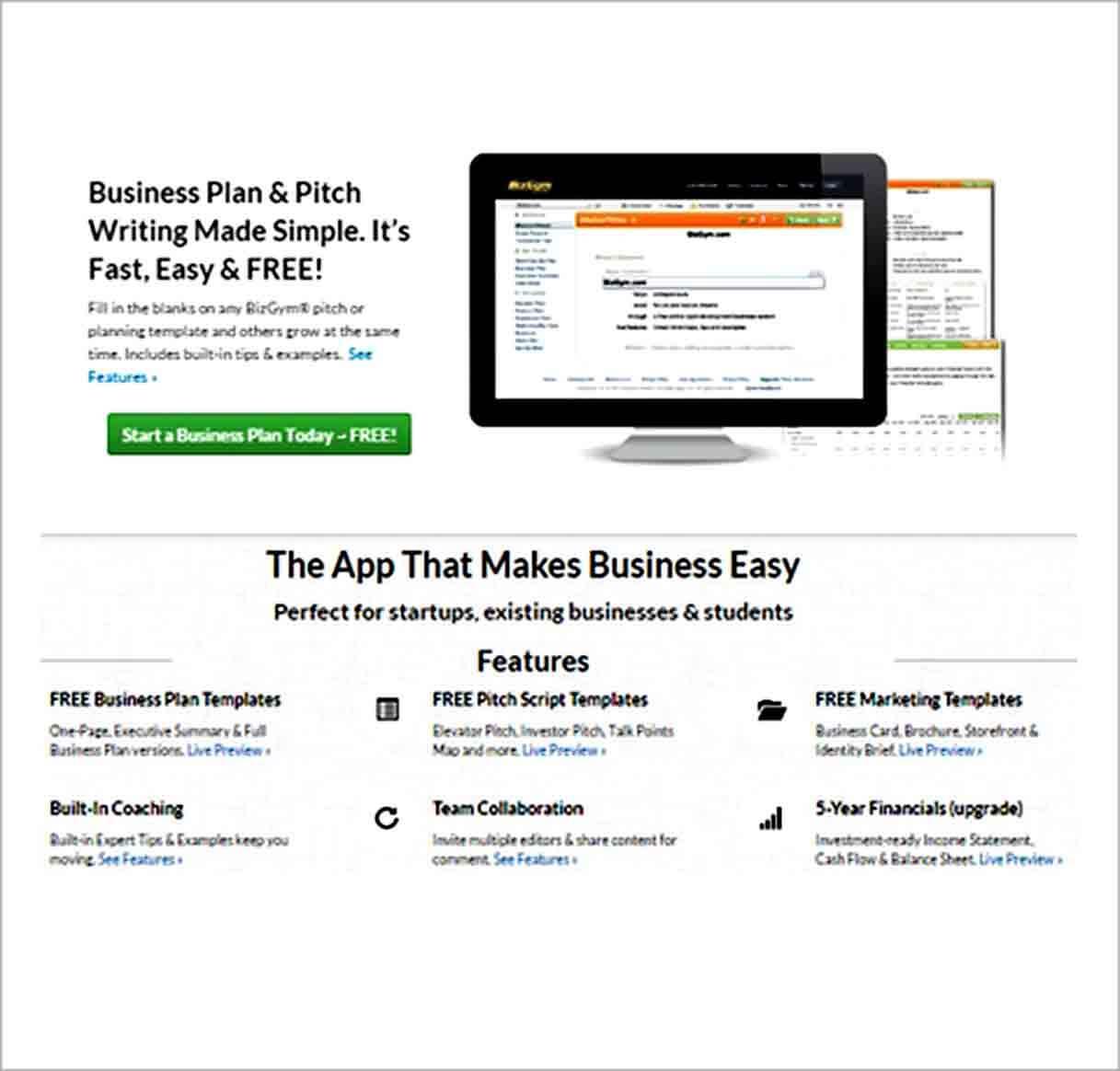 Templates business plan maker softwa