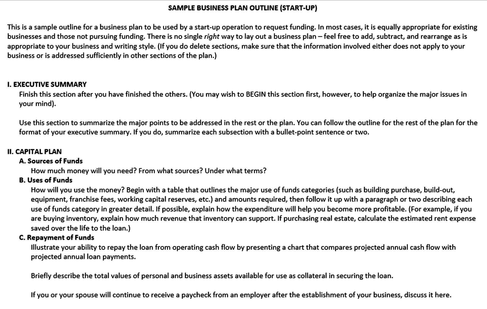 Templates small business plan o