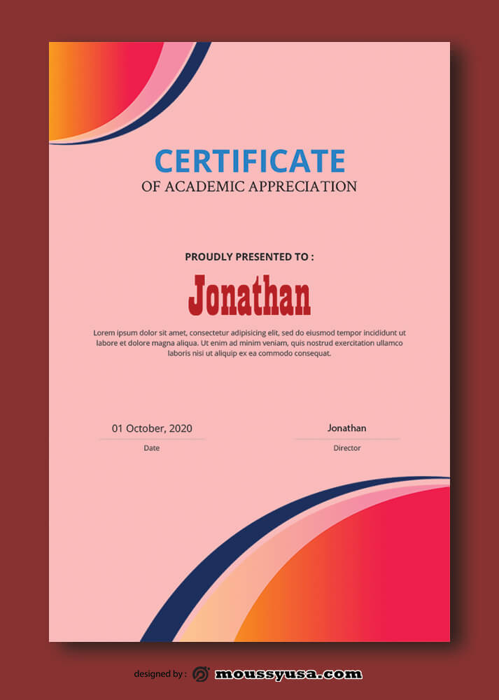 Academic Certificate Templates Design