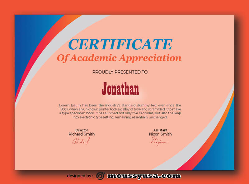 Academic Certificate Templates Ideas