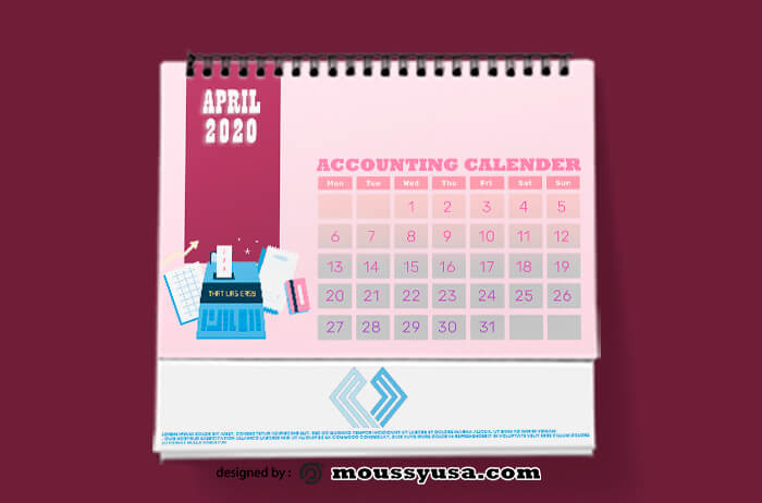 Accounting Calender Design Template