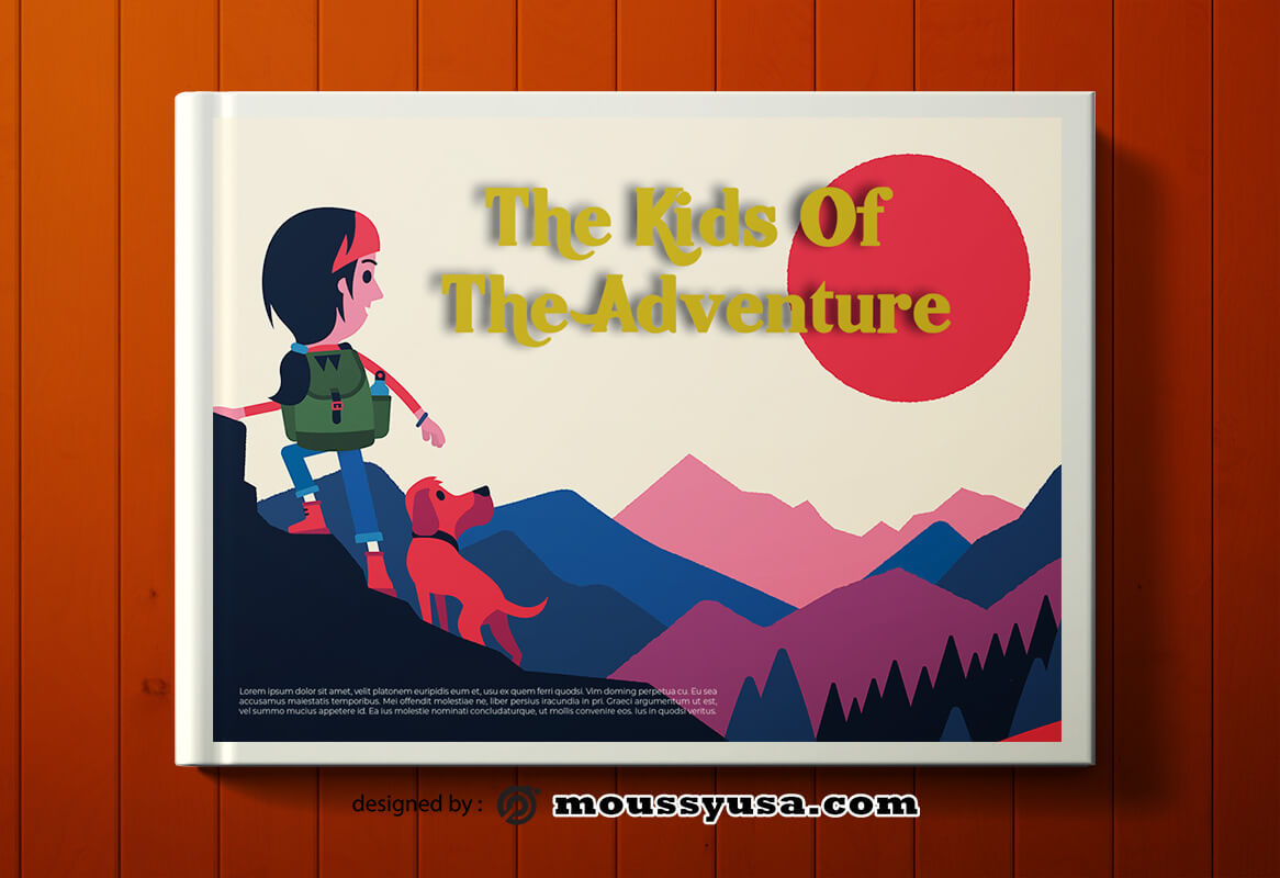 Adventure Book Cover Templates Design