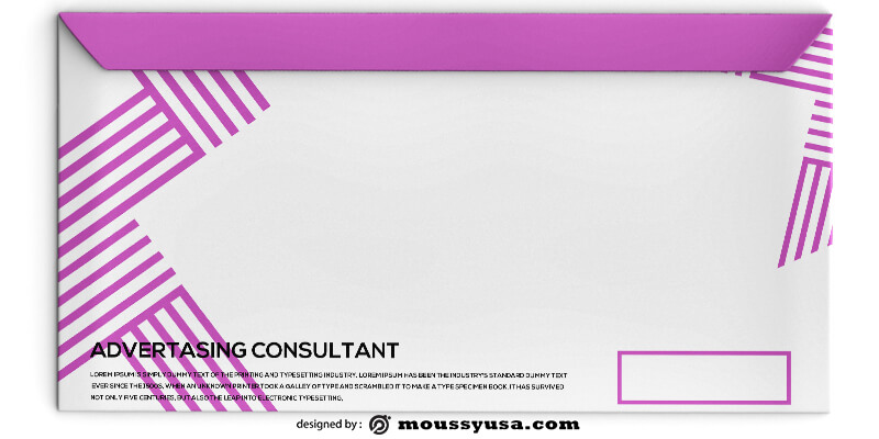 Advertasing Consultant Envelope Design PSD