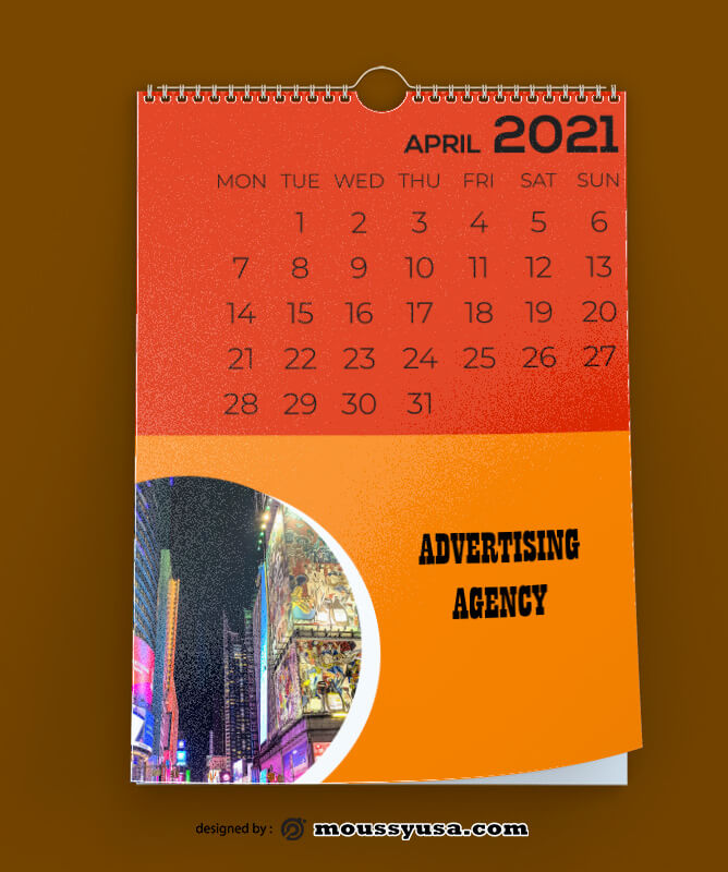 Advertising Agency Calender Design PSD