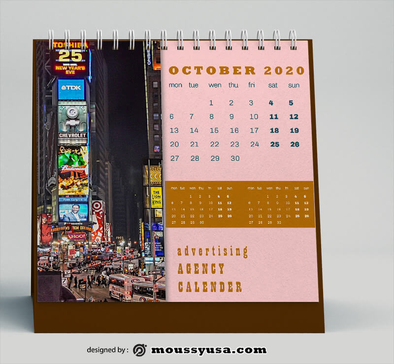 Advertising Agency Calender Template Example