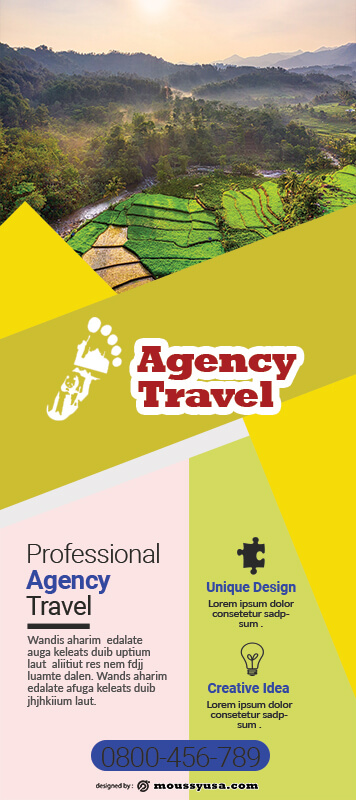 Agency Travel Banner Design Template