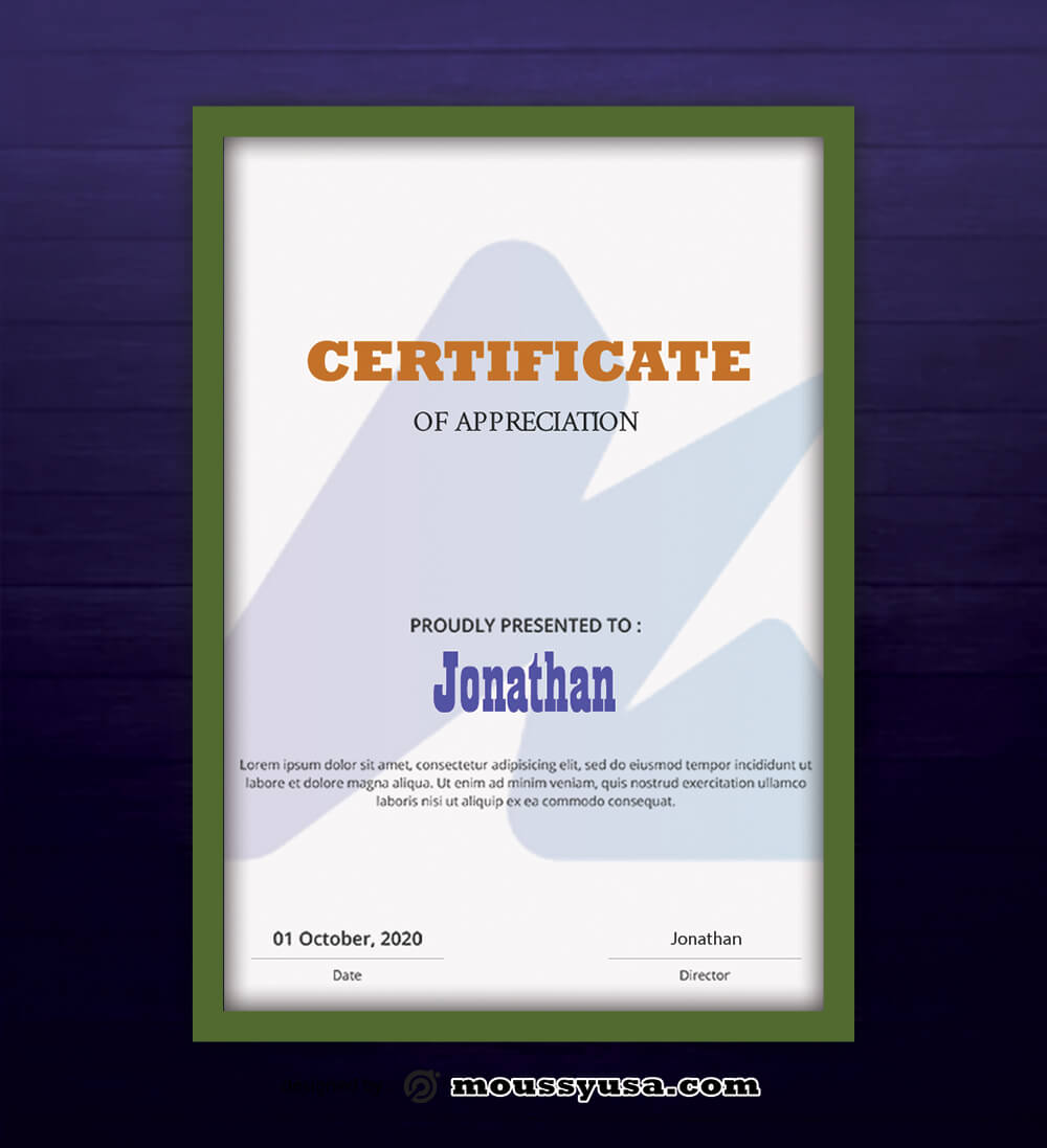 Analysis Certificate Design Ideas