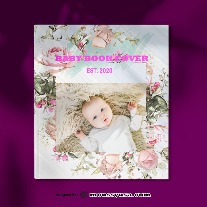 Baby Book Cover Template Design