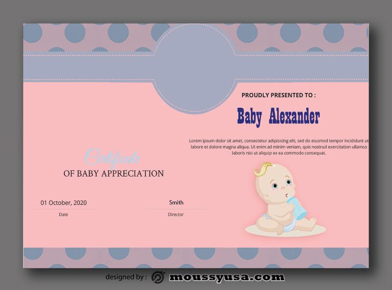 Baby Certificate Template Ideas