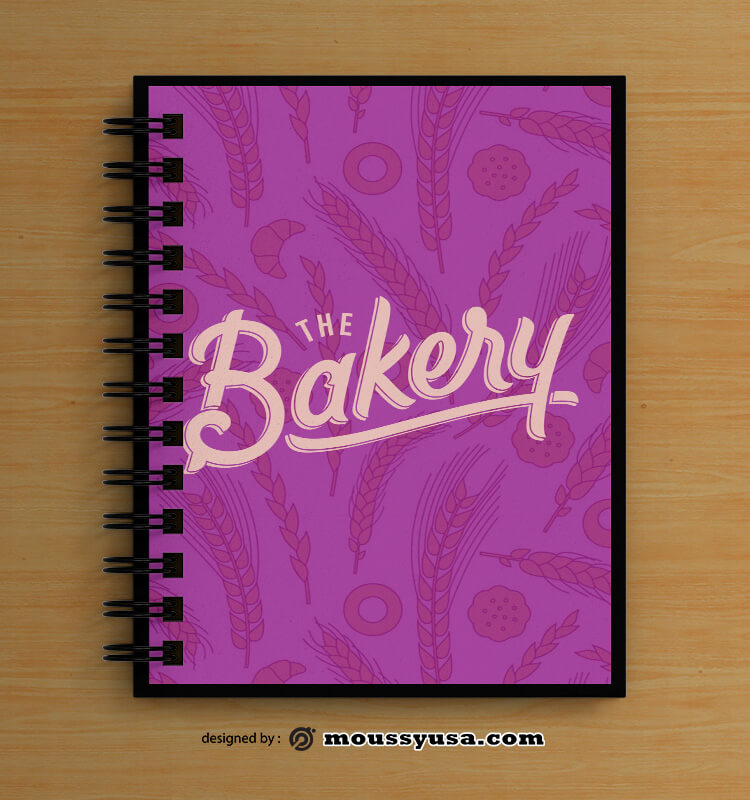 Bakery Book Cover Design PSD