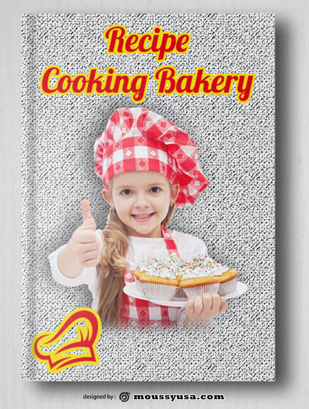 Bakery Book Cover PSD Template For