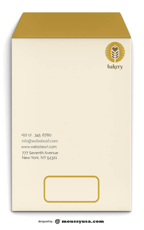 Bakery Envelope Design PSD