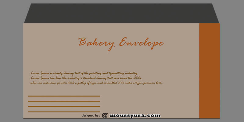 Bakery Envelope Template Example