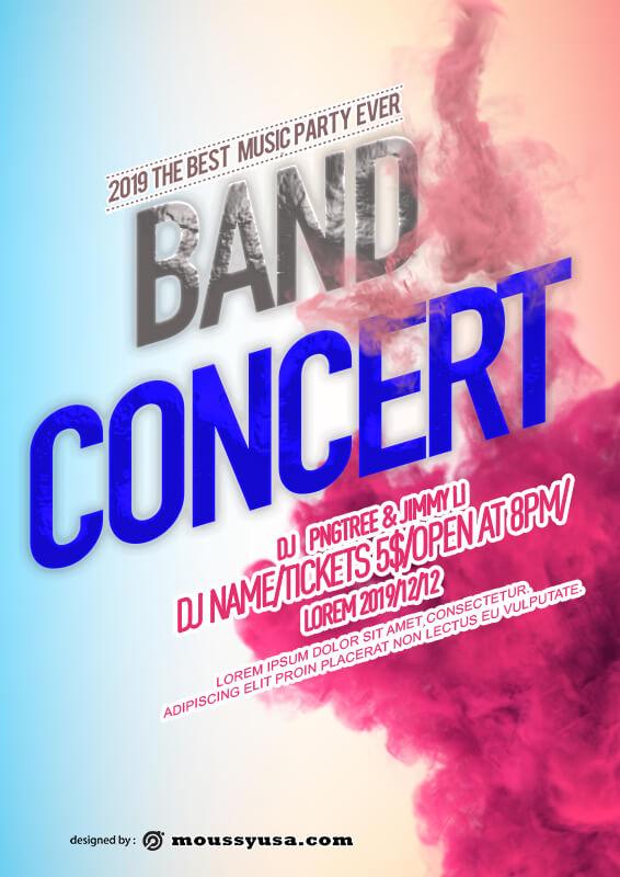 Band Convert Poster Template Ideas