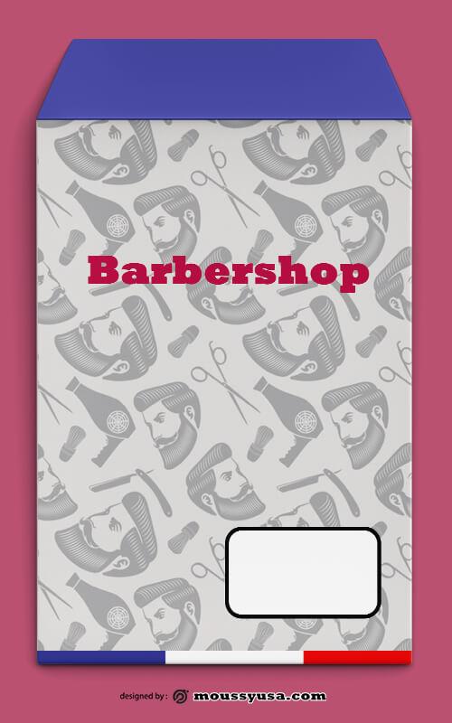Barbershop Envelope Template Design