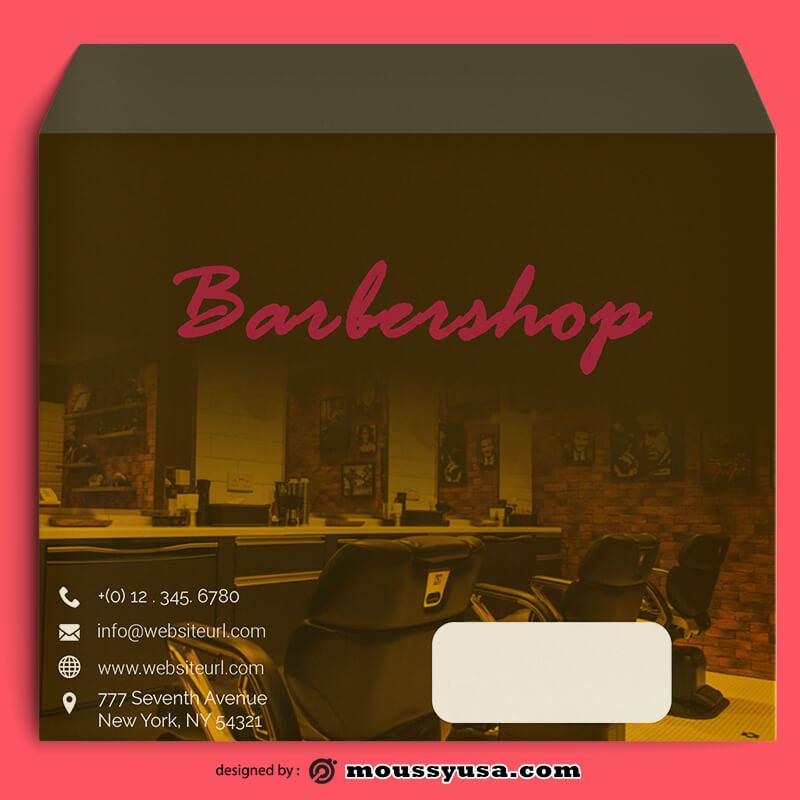 Barbershop Envelope Template Example