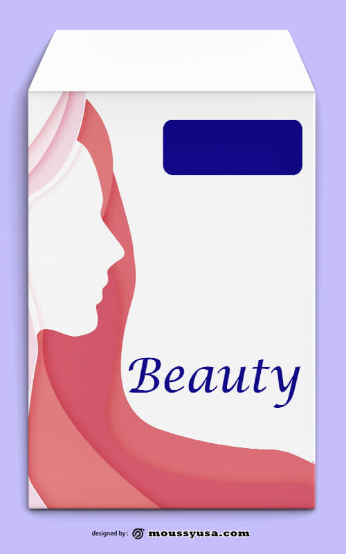 Beauty Parlor Envelope Template Design