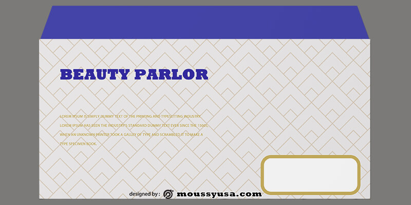 Beauty Parlor Envelope Template Ideas