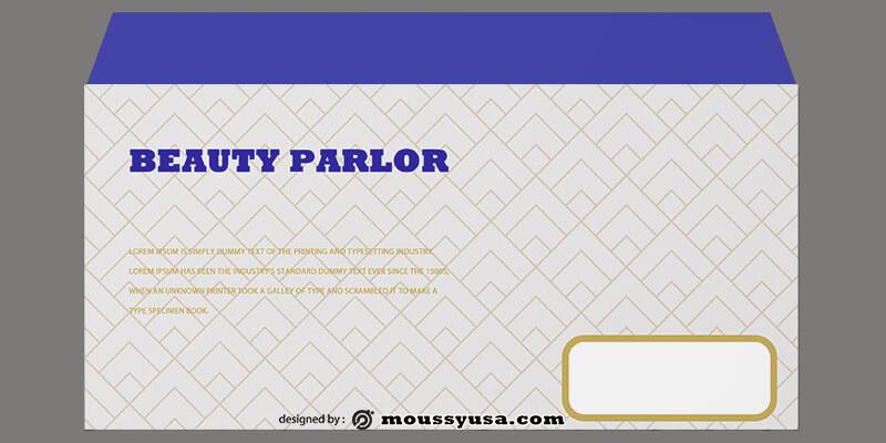 Beauty Parlor Envelope Template Ideas