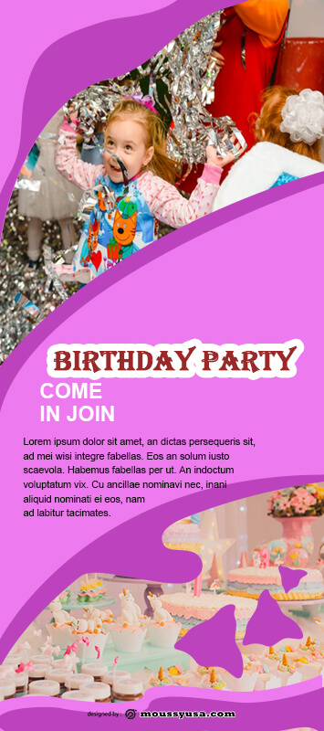 Birthday Party Banner Template Sample