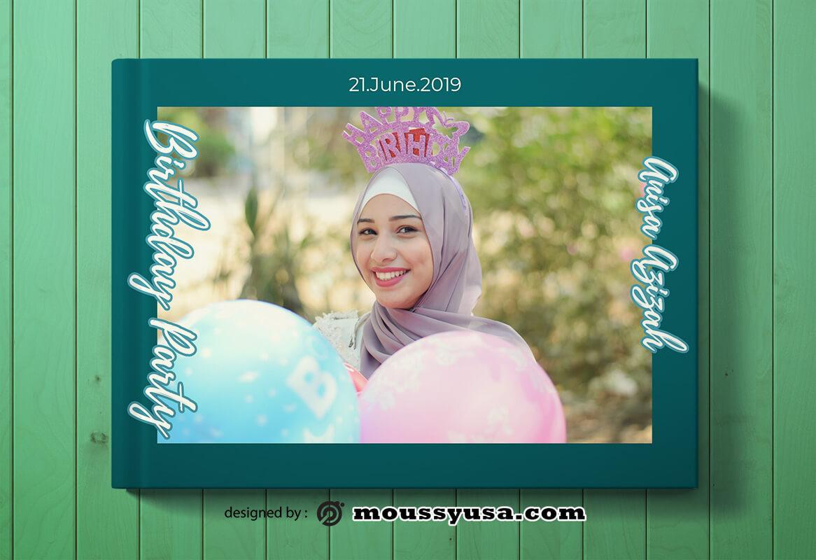 Birthday Photo Book Cover Design Ideas