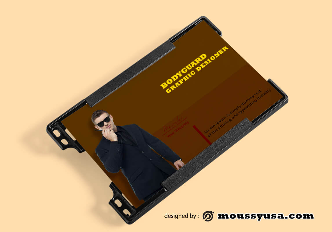Bodyguard ID Card Design Ideas