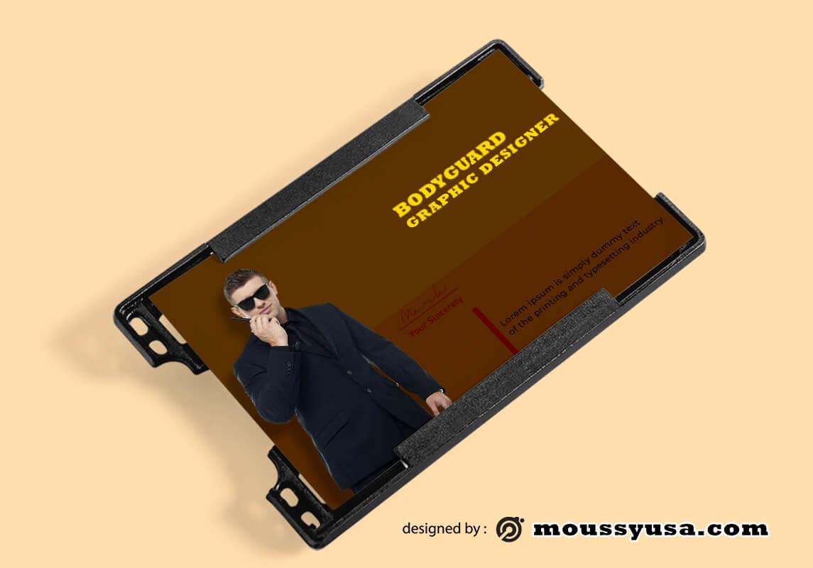 Bodyguard ID Card Design Ideas