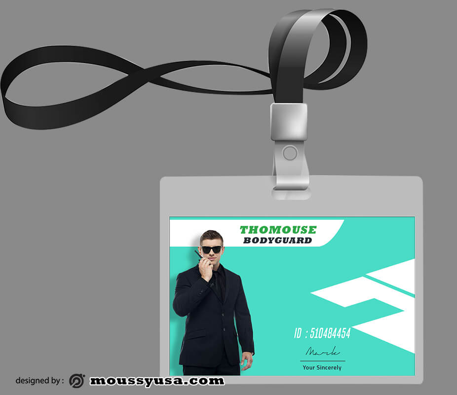 Bodyguard ID Card Design PSD