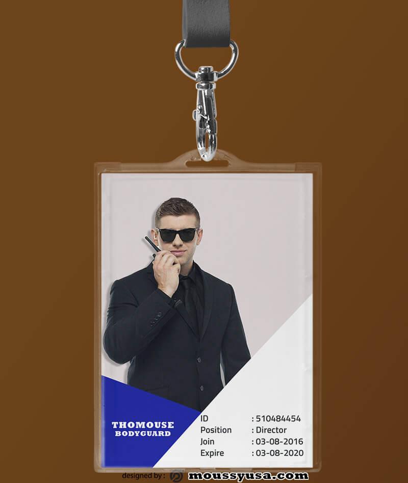 Bodyguard ID Card Design Template