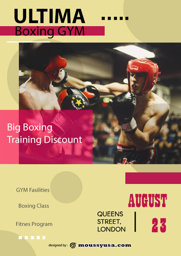 Boxing GYM flyer template design