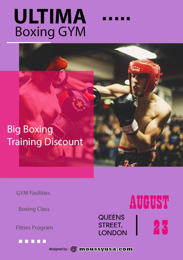 Boxing GYM flyer template ideas