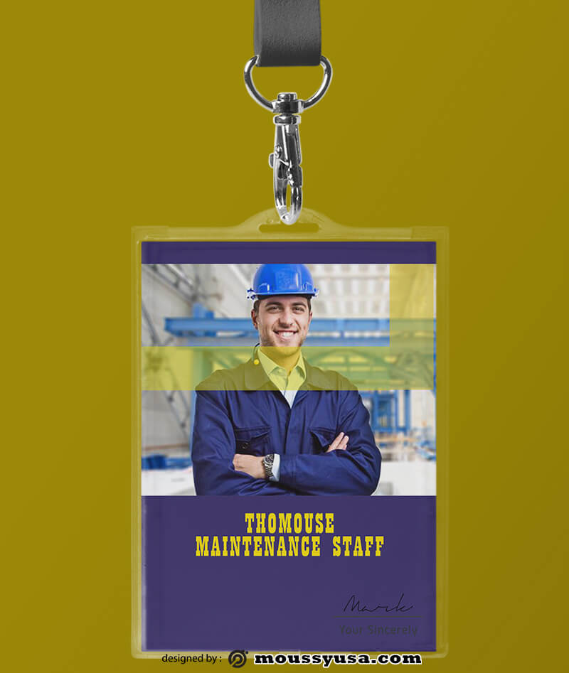 Building Maintenance ID Card Template Example