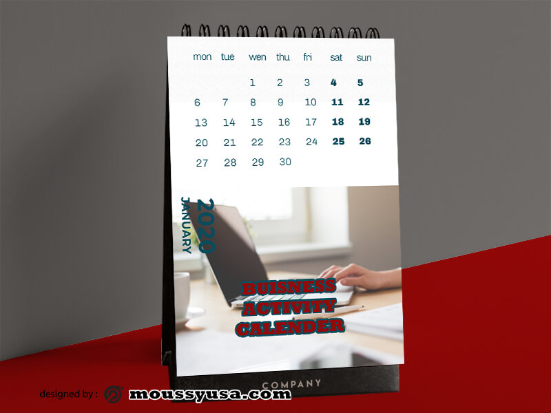 Business Activity Calender Template Design