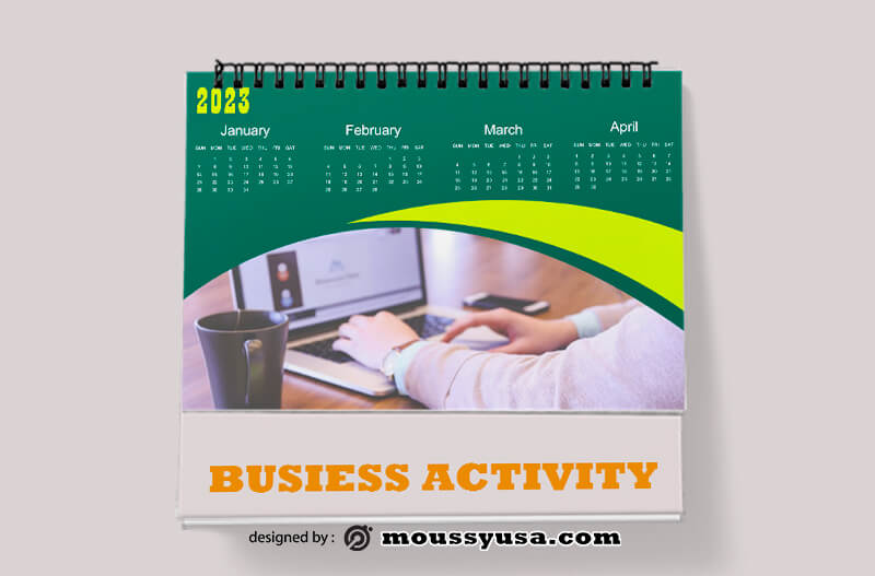 Business Activity Calender Template Example