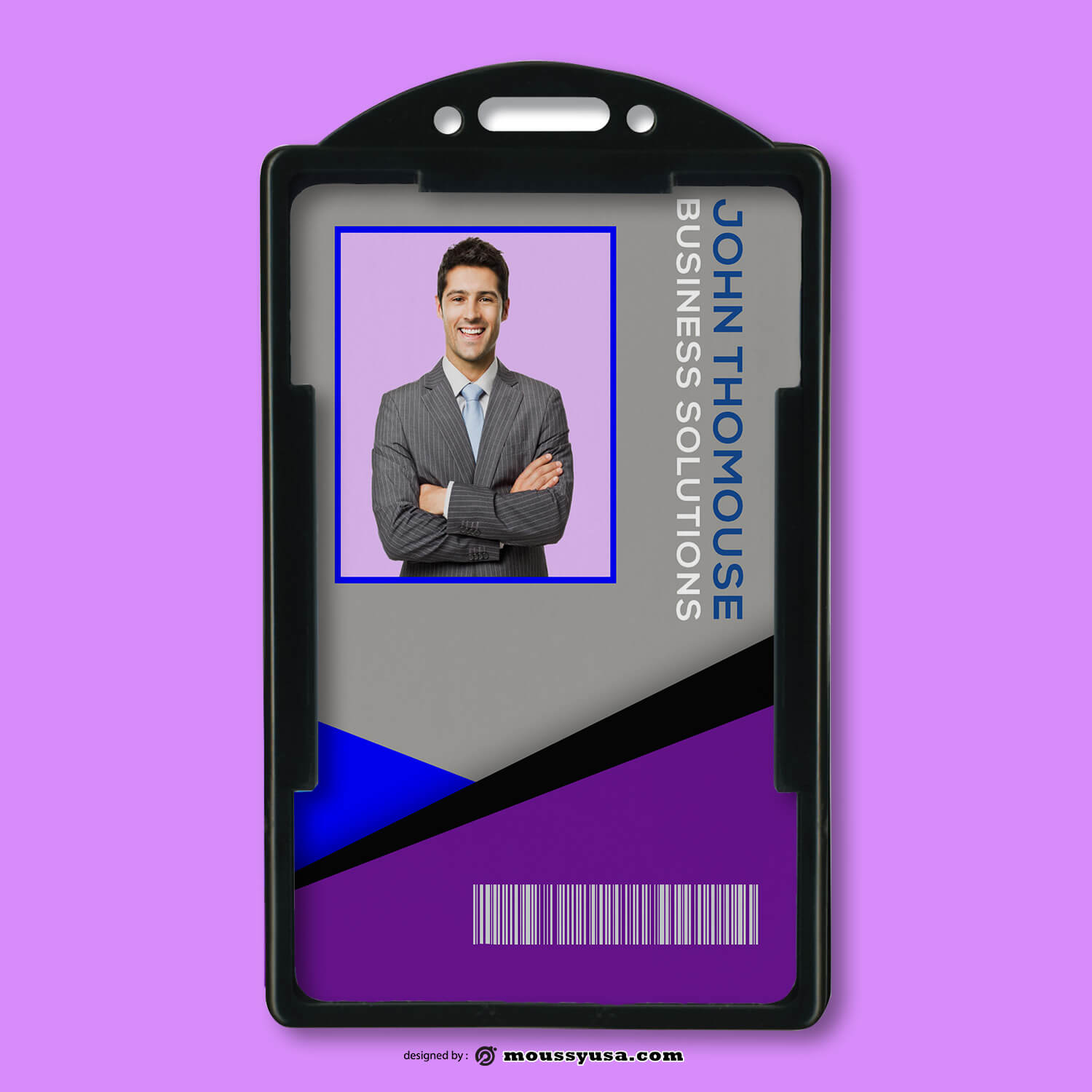 Business Solustion ID Card Design PSD