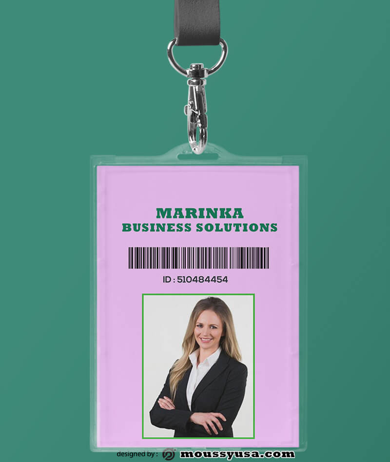 Business Solustion ID Card Template Example