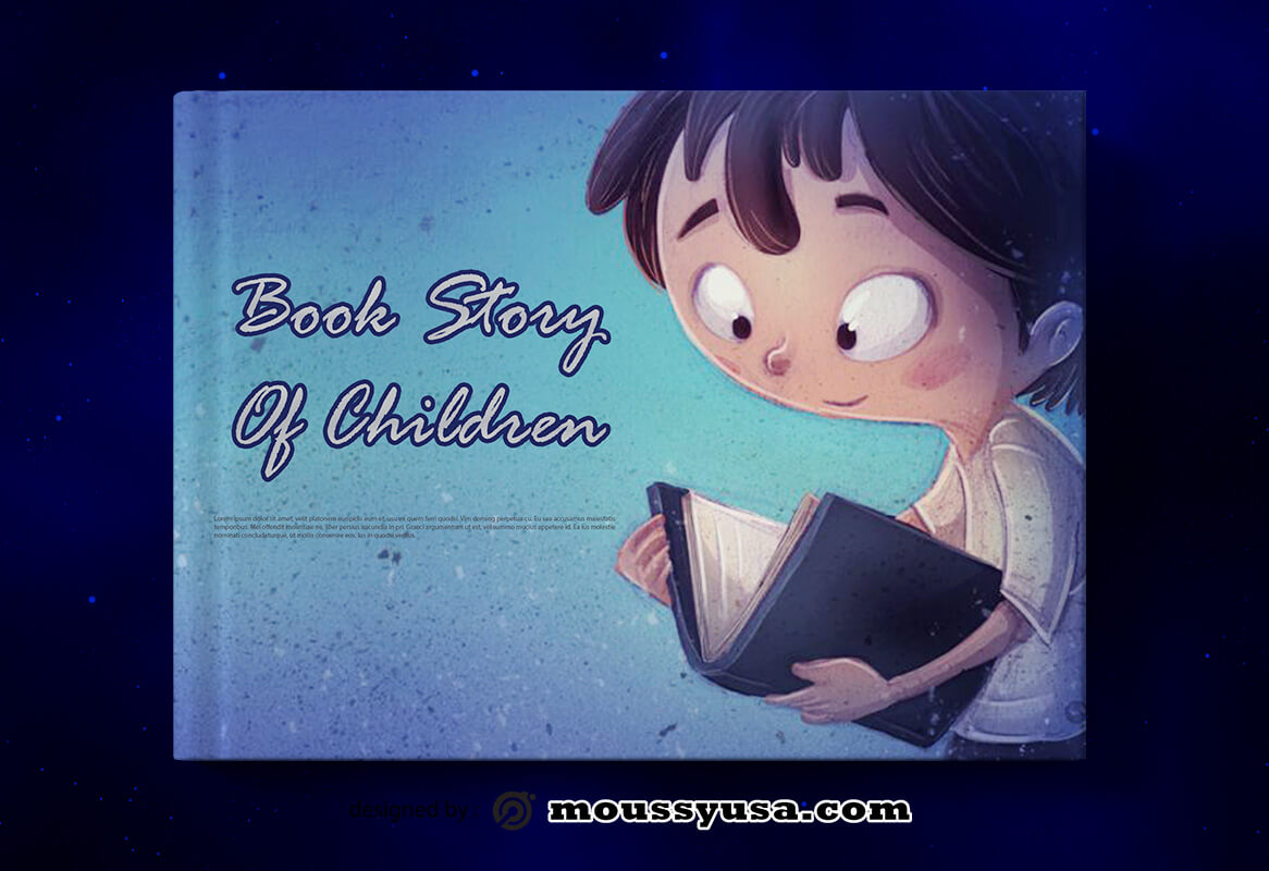 Children Story Book Cover Template Design