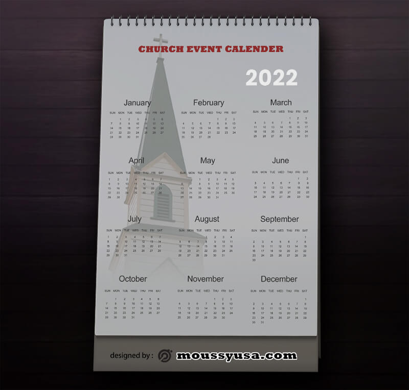 Church Event Calender Design PSD