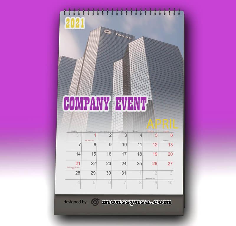 Company Event Calender Design PSD