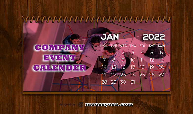 Company Event Calender Design Template