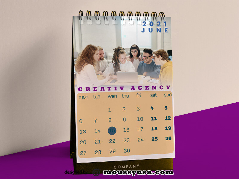Creative Agency Calender Template Design
