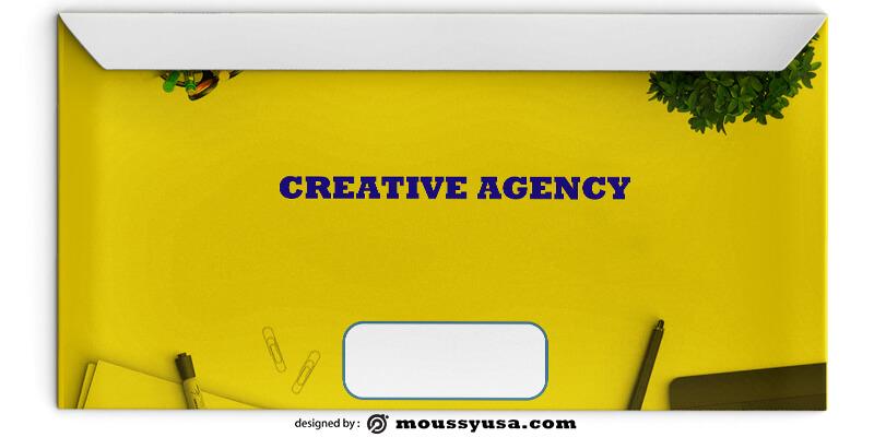 Creative Agency Envelope Design PSD