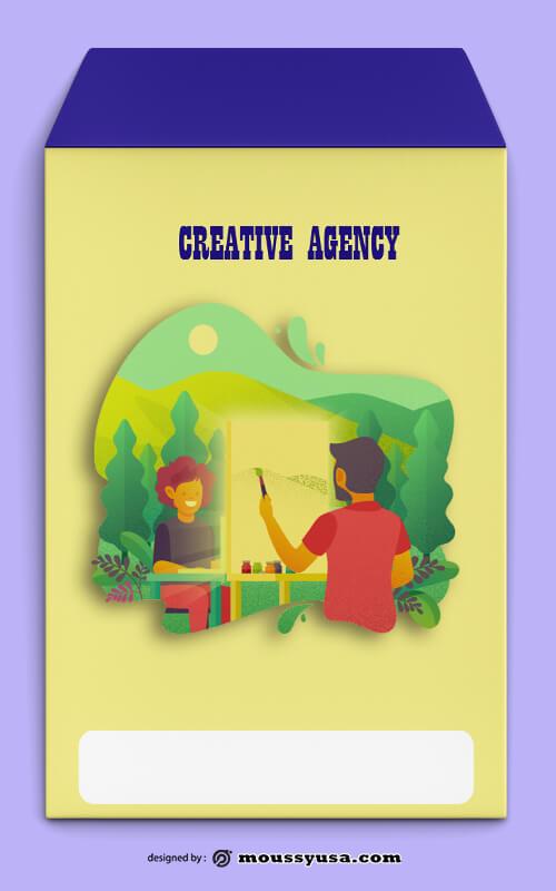 Creative Agency Envelope Design Template