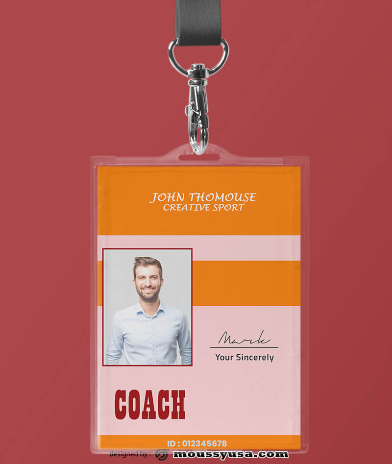 Creative Sport ID Card Template Sample