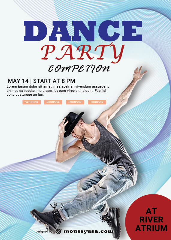 Dance Party Poster Template Design