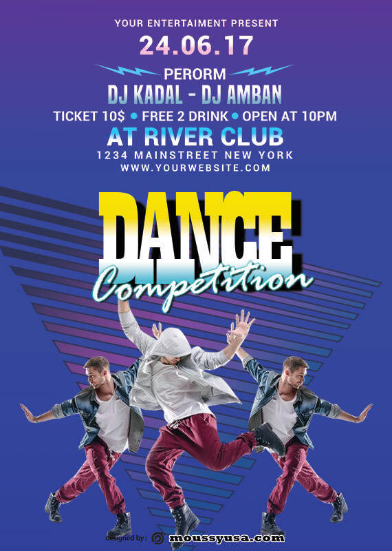 Dance Party Poster Template Sample