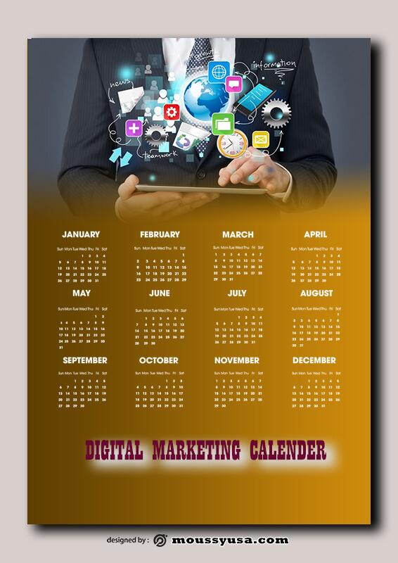 Digital Marketing Calender Design Ideas