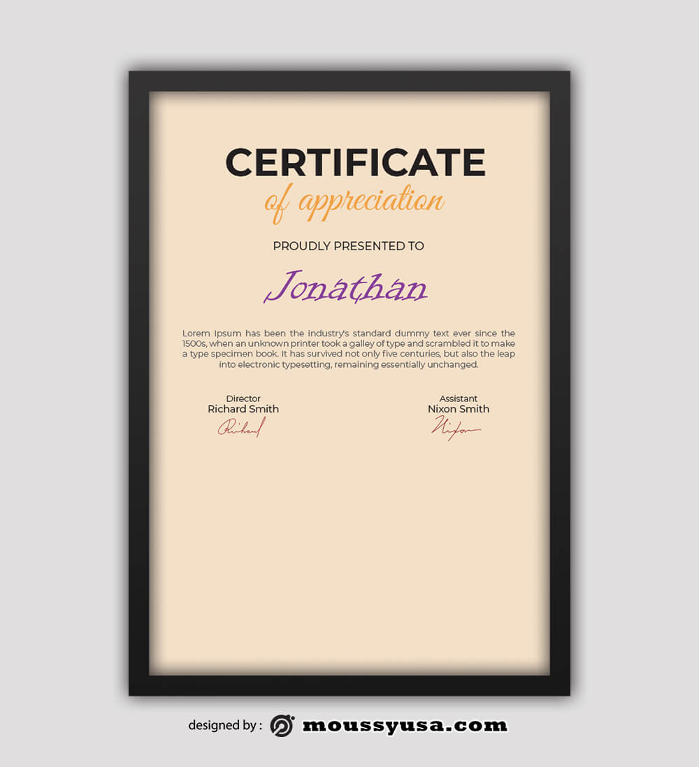 Dog Certificate Design Ideas