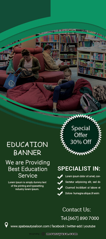 Education Banner Template Design