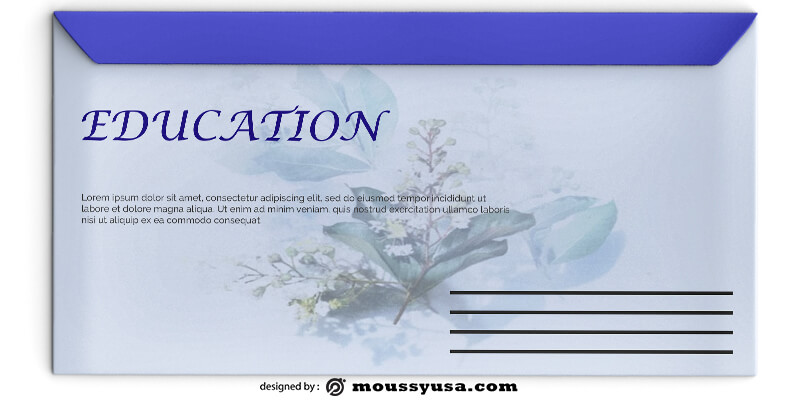 Education Envelope Design PSD